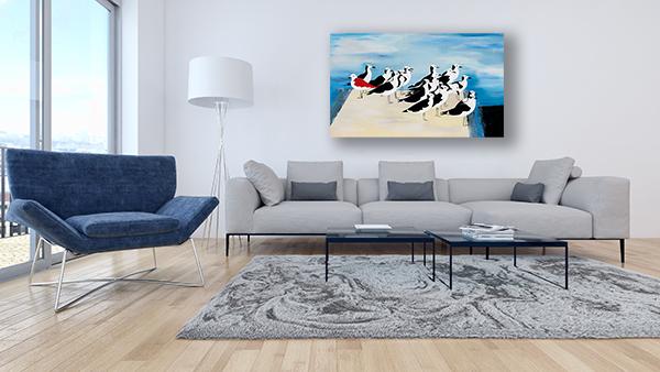 ציור של שחפים
