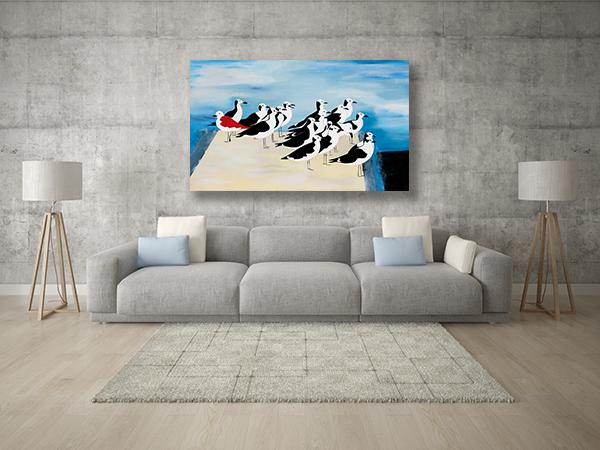 ציורים גדולים לסלון