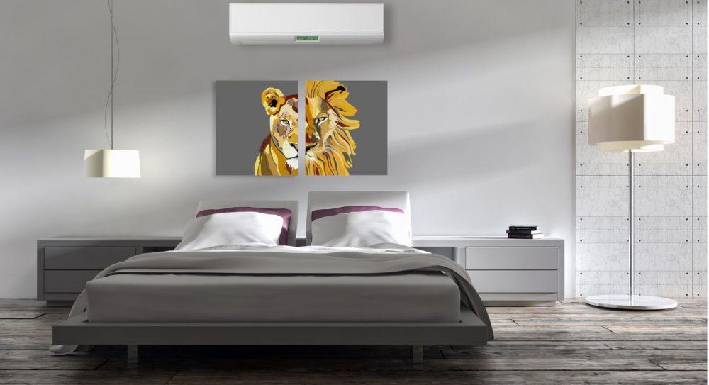 ציורים לחדר שינה - אריה ולביאה