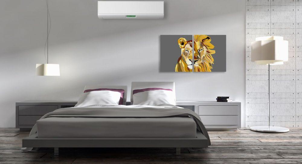 ציורים לבית - אריה ולביאה