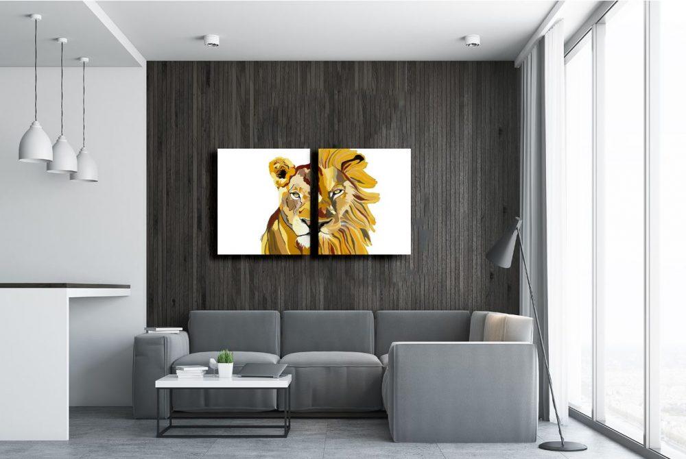 סט ציורים לסלון