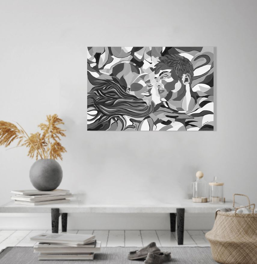 תמונה צבעונית לסלון - סיפור אהבה