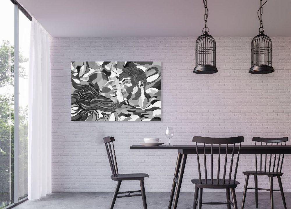 ציורים למטבח - סיפור אהבה