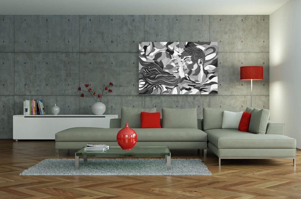 ציורים לסלון - סיפור אהבה