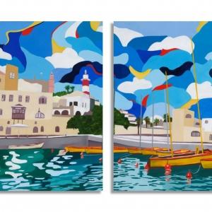 Jaffa Port Paintings set